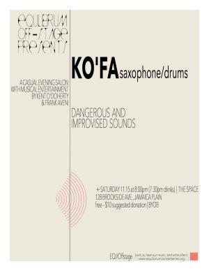 KO'FA 11_15_14 Poster